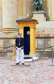 Royal Guard protecting Royal Palace in Stockholm