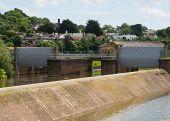 Flood Gates And Spillway