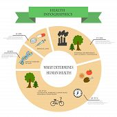 Depending Infographics Health From External And Internal Factors