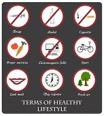 Infographics Rules Of Healthy Lifestyles