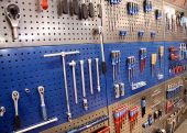 Tools on toolstable on the wall