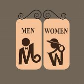 picture of female toilet  - toilet icons and sign - JPG