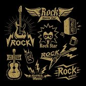 stock photo of rocking  - Rock Music - JPG