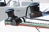 Winches And Ropes, Yacht Detail