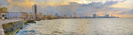picture of malecon  - Panoramic view of Havana bay and city skyline along the waterfront  - JPG