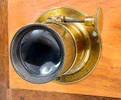 Lens Of Antique Photographic Folding