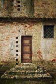 Still life - old door on a Tuscan villa