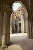The internal layout of the Abbey of San Galgano, Tuscany, Italy
