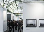 People visiting Paris Photo art fair 2014, Paris, France