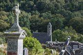 Cross In The Cemetery In Glendalough