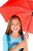Young Girl With Umbrella.
