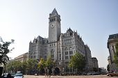 stock photo of old post office  - Old Post office pavilion with bell tower in Washington DC - JPG