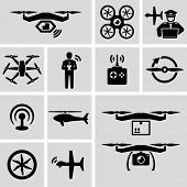 picture of military helicopter  - Drone icons  - JPG