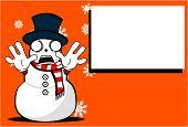snow man cartoon xmas background05