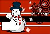 snow man cartoon xmas background4