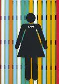 Lady Restroom Sign