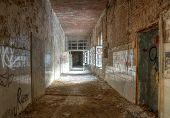 Old Corridor Of Health Resorts In Beelitz
