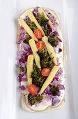 Vegetarian Tarte Flambee On A Plate