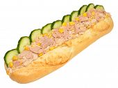 Tuna And Sweet Corn Baguette Sandwich