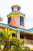 Orange Blue And Yellow Plaster Building In Nassau