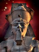 Colossus Of Ramses Ii And Cone Nebula (elements Of This Image Fu