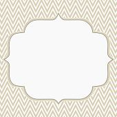 pic of chevron  - Beige and White Chevron Zigzag Frame Background with center for copy - JPG