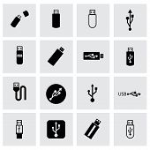 Vector usb icon set