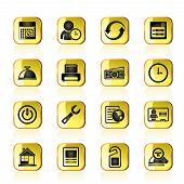 reservation and hotel icons