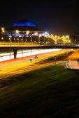 Stockholm, Sweden night time highway