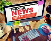 Digital Online Update Financial News Concept