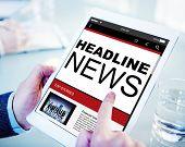 Headline News Top Stories Online Concepts