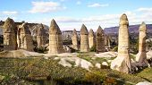pic of chimney rock  - Picturesque landscape with Fairy chimneys Cappadocia in Turkey - JPG