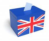 British Flag Ballot Box