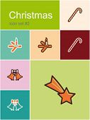 Christmas symbols icons. Set of editable vector illustrations in Metro style.
