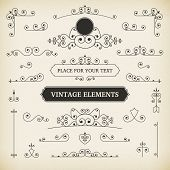 Vintage Vector Labels And Scroll Elements