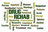 stock photo of mandate  - Drug Rehab word cloud with White Background - JPG