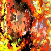 Marbled Fire Abstract