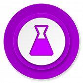 laboratory icon, violet button