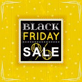 Black Friday Sale Label, Vector Illustration