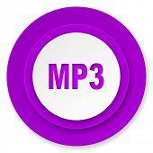 mp3 icon, violet button
