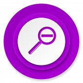 lens icon, violet button