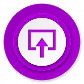 enter icon, violet button