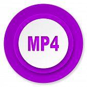 mp4 icon, violet button