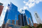 image of prudential center  - Modern buildings in The financial district of Boston  - JPG