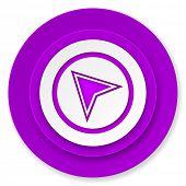navigation icon, violet button