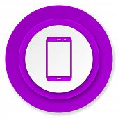 smartphone icon, volet button, phone sign