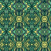 Fantasy vintage abstract seamless pattern.
