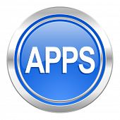 apps icon, blue button