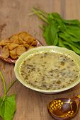 picture of sorrel  - Sorrel soup with egg and greens - JPG
