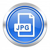 jpg file icon, blue button
